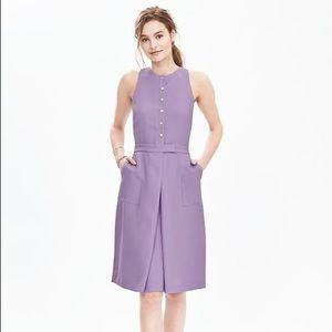 Banana Republic Lavender Button Up Dress